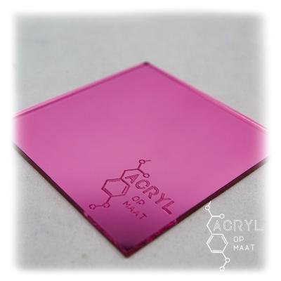 3mm Spiegel Roze 400 x 120mm