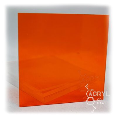 3mm Transparant Oranje 450x150mm